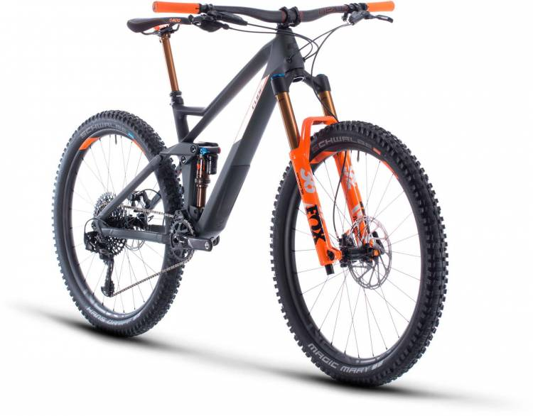 Cube Stereo 140 HPC TM 27.5 grey n orange 2020 - Fully Mountainbike