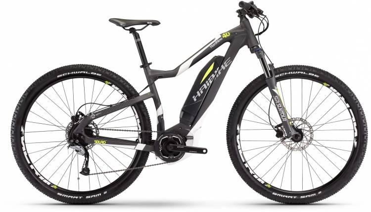 Haibike SDURO HardLife Street 4.5 400Wh anthrazit/weiß/lime matt 2017 - Damen E-Bike Hardtail Mounta