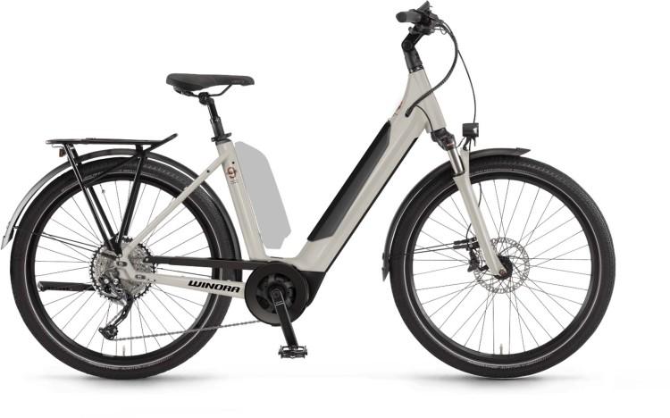 Winora Sinus 9 i625Wh linenwhite 2021 - E-Bike Trekkingrad Tiefeinsteiger