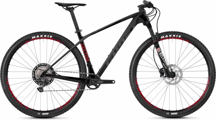 Ghost Lector 2.9 LC U night black / titanium gray / riot red 2020 - Hardtail Mountainbike