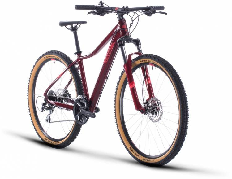 Cube Access WS Exc poppyred n coral 2020 - Hardtail Mountainbike Damen