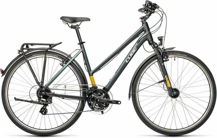 Cube Touring grey n yellow 2021 - Trekkingrad Damen