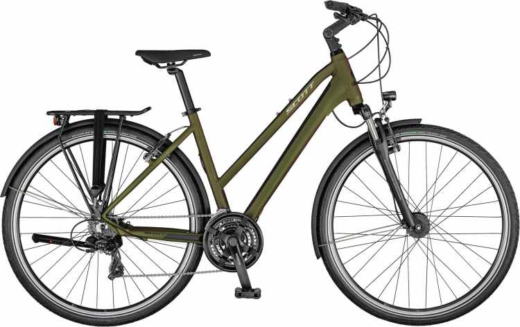 Scott Sub Sport 40 Lady beetle green / polished silver 2021 - Trekkingrad Damen
