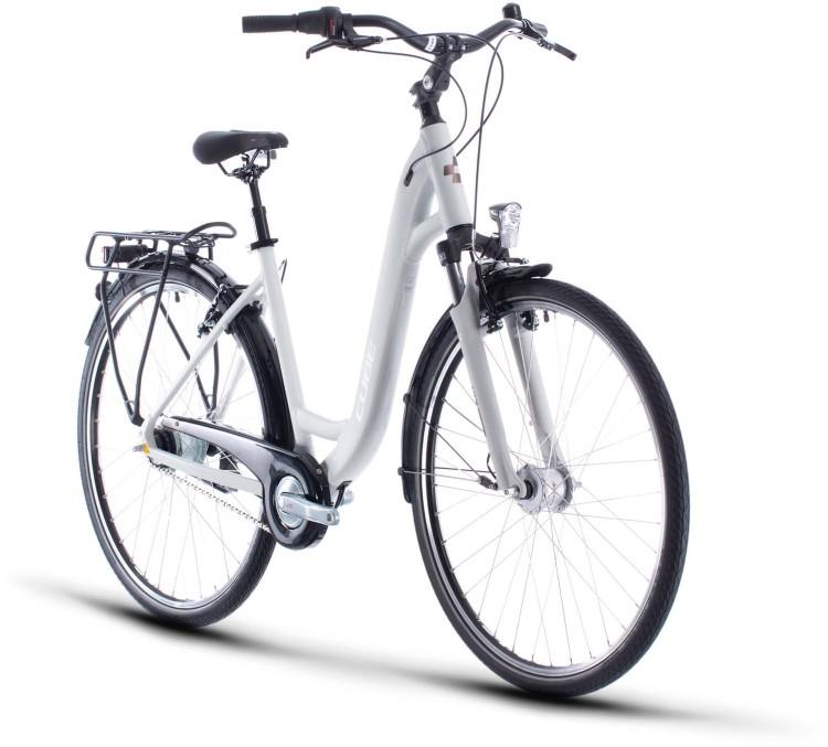 Cube Town Pro grey n white 2020 - Trekkingrad Tiefeinsteiger