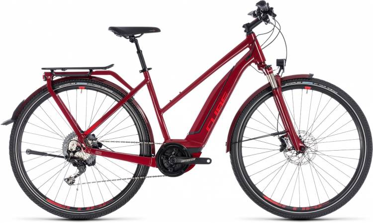 Cube Touring Hybrid EXC 500 darkred n red 2018 - Damen Trapez E-Bike Trekkingrad