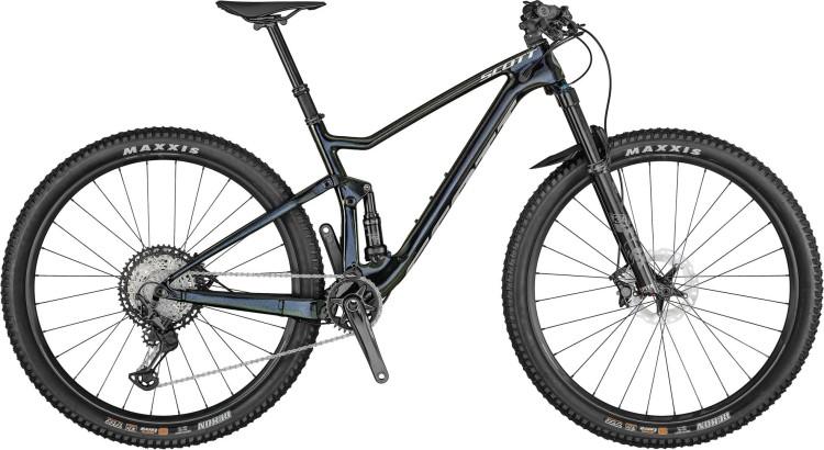 Scott Spark 910 gloss black / brushed metall 2021 - Fully Mountainbike