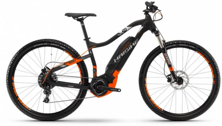 Haibike SDURO HardNine 2.0 400Wh schwarz/orange/silber m. 2018 - E-Bike Hardtail Mountainbike