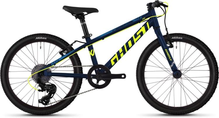 Ghost Kato R1.0 AL U night blue / neon yellow / riot blue 2020 - Kinderrad 20 Zoll