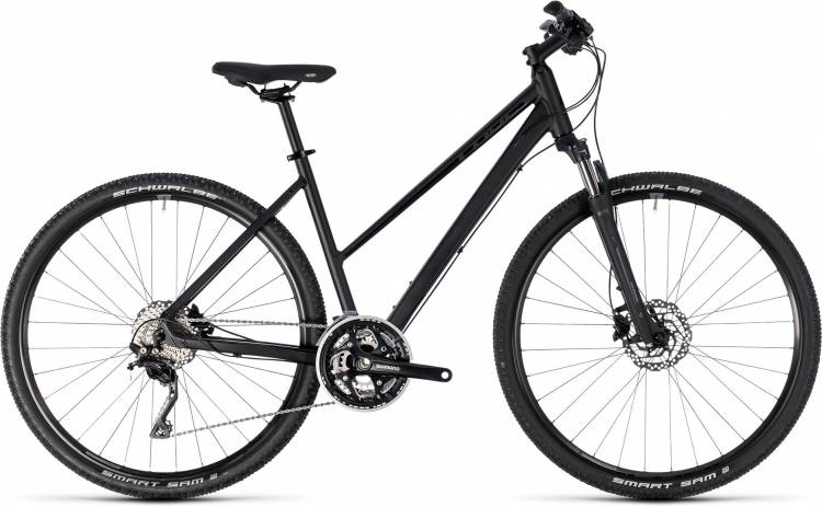 Cube Nature SL black n grey 2018 - Damen Trapez Crossrad
