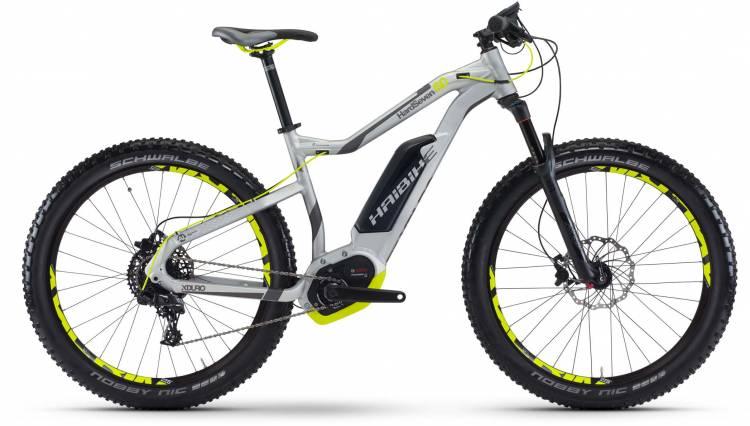 Haibike XDURO HardSeven 6.0 500Wh silber/anthr./lime matt 2017 - E-Bike Hardtail Mountainbike