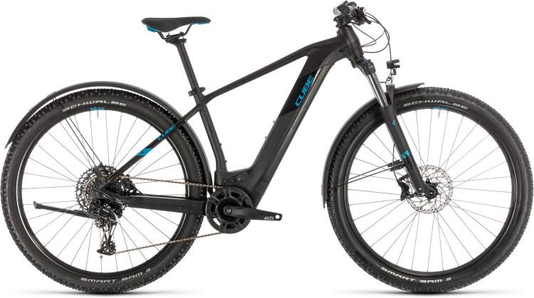 Cube Reaction Hybrid EX 625 Allroad 29 black n blue 2020 - E-Bike Hardtail Mountainbike