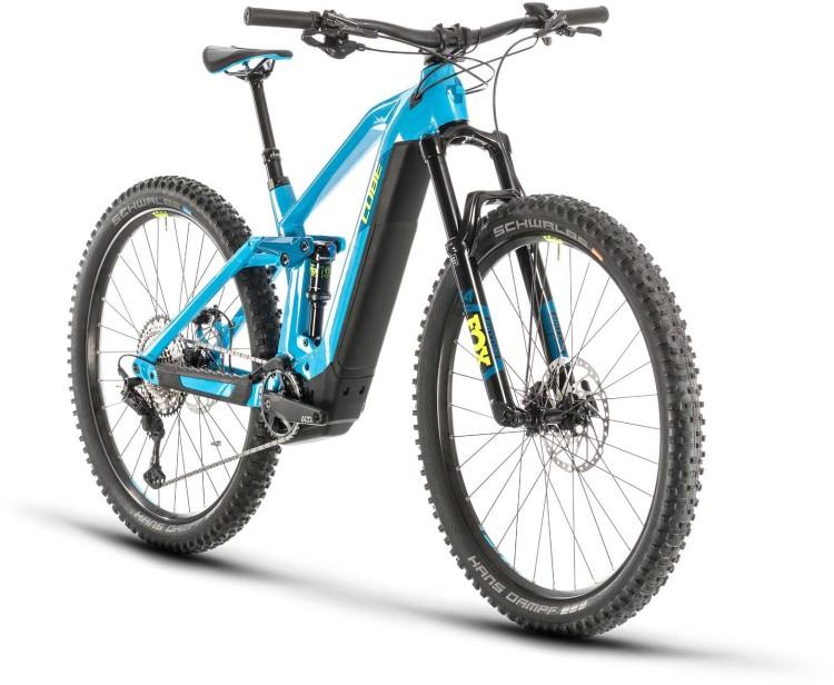 Cube Stereo Hybrid 140 HPC SL 625 29 reefblue n yellow 2020 - E-Bike Fully Mountainbike