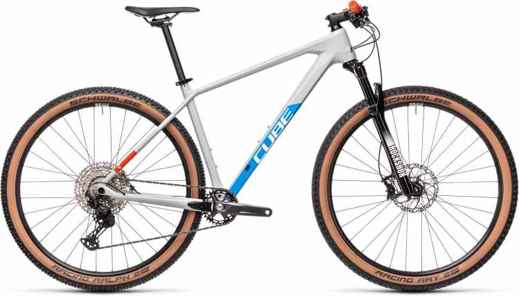 Cube Reaction C:62 Pro grey n blue n red 2021 - Hardtail Mountainbike
