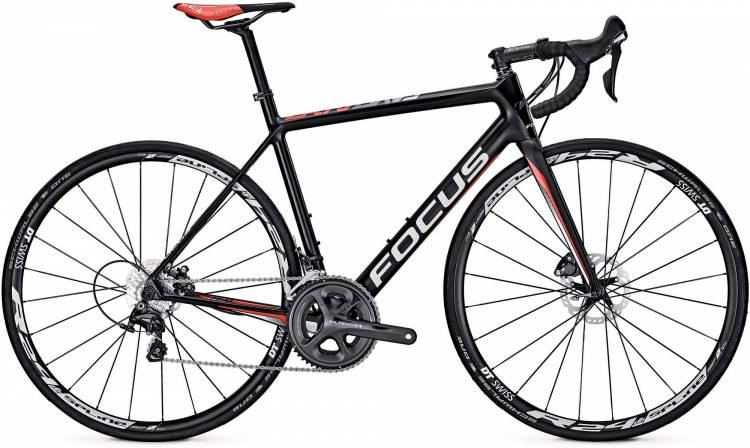 Focus Cayo Disc Ultegra carbon/red/white 2017 - Herren Carbon Rennrad