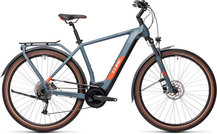 Cube Kathmandu Hybrid ONE 500 blue n red 2021 - E-Bike Trekkingrad Herren
