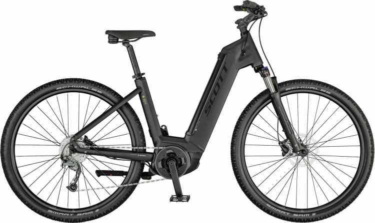 Scott Sub Cross eRIDE 20 USX dark grey / gold / black 2021 - E-Bike Crossrad Tiefeinsteiger