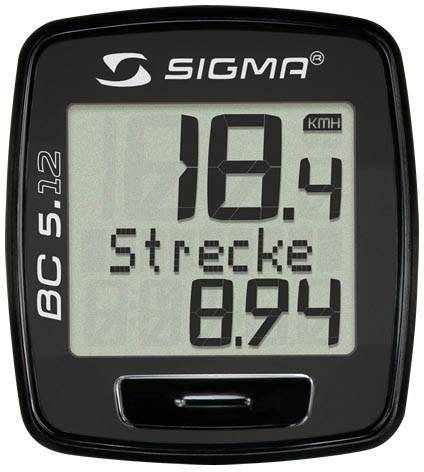 Sigma Fahrradcomputer BC 5.12 schwarz kabelgebunden