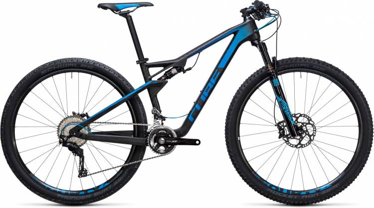 Cube AMS 100 C:68 Race 29 blue carbon 2017 - Fully Mountainbike