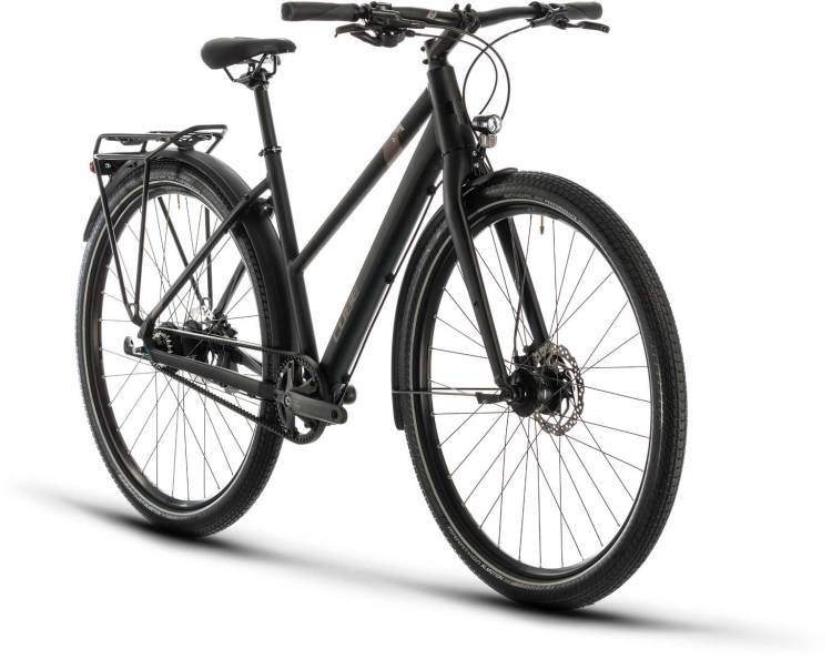 Cube Travel Pro black n brown 2020 - Trekkingrad Damen