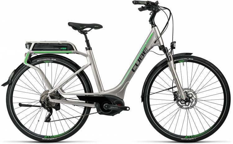 Cube Touring Hybrid Pro 400 silver n flashgreen Damen - Easy Entry 2016