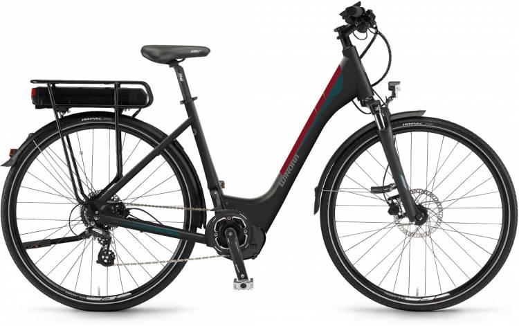 """Winora Y280.X 400Wh 28"""" schwarz matt 2017 - Tiefeinsteiger E-Bike Trekkingrad"""
