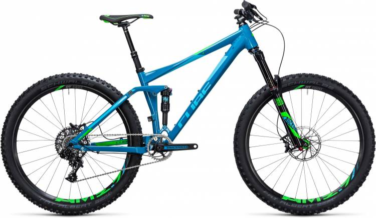 Cube Stereo 140 HPA SL 27.5 blue n green 2017 - Fully Mountainbike