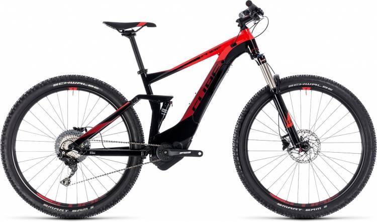 Cube Stereo Hybrid 120 Pro 500 black n red 2018 - E-Bike Fully Mountainbike