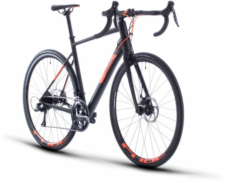 Cube Attain Pro black n orange 2020 - Aluminium Rennrad Herren