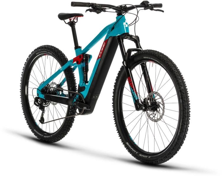 Cube Stereo Hybrid 120 Pro 500 29 petrol n red 2020 - E-Bike Fully Mountainbike