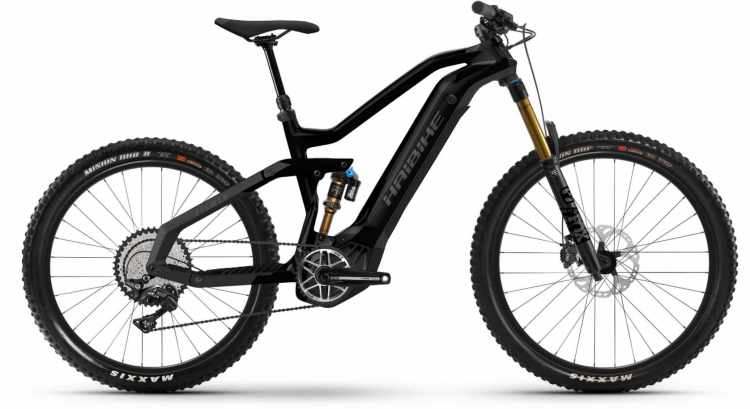 Haibike AllMtn 7 i600Wh black/titan mat./glos. 2021 - E-Bike Fully Mountainbike