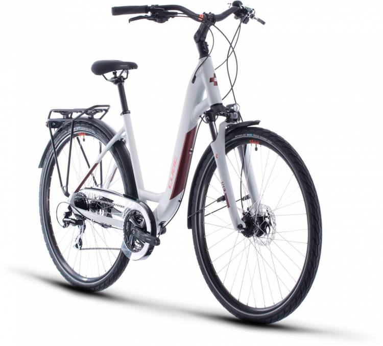 Cube Touring Pro grey n orange 2020 - Trekkingrad Tiefeinsteiger