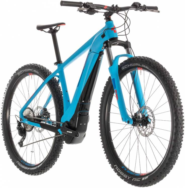cube reaction hybrid exc 500 blue n red 2019 e bike. Black Bedroom Furniture Sets. Home Design Ideas