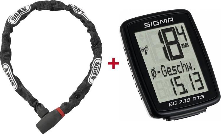 Abus Fahrradschloss + Sigma Tacho BC 7.16 ATS