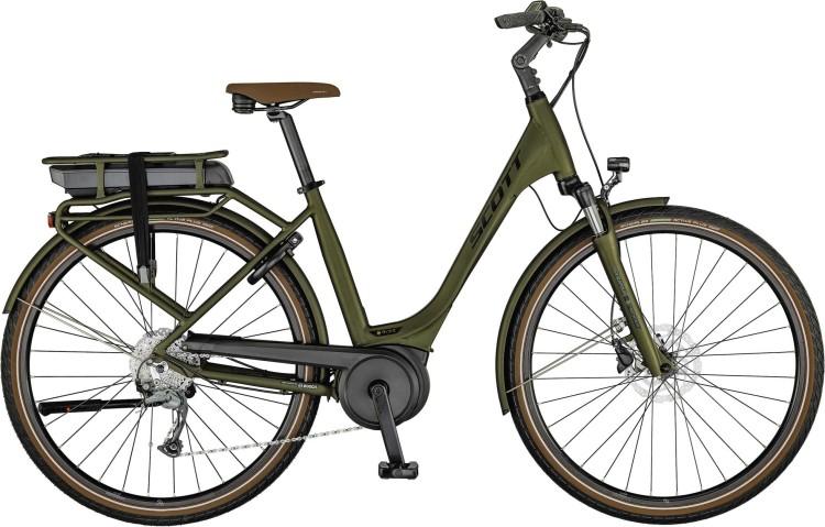 Scott Sub Active eRIDE 20 USX rack mosse green / wakame green / havana 2021 - E-Bike Trekkingrad Tiefeinsteiger