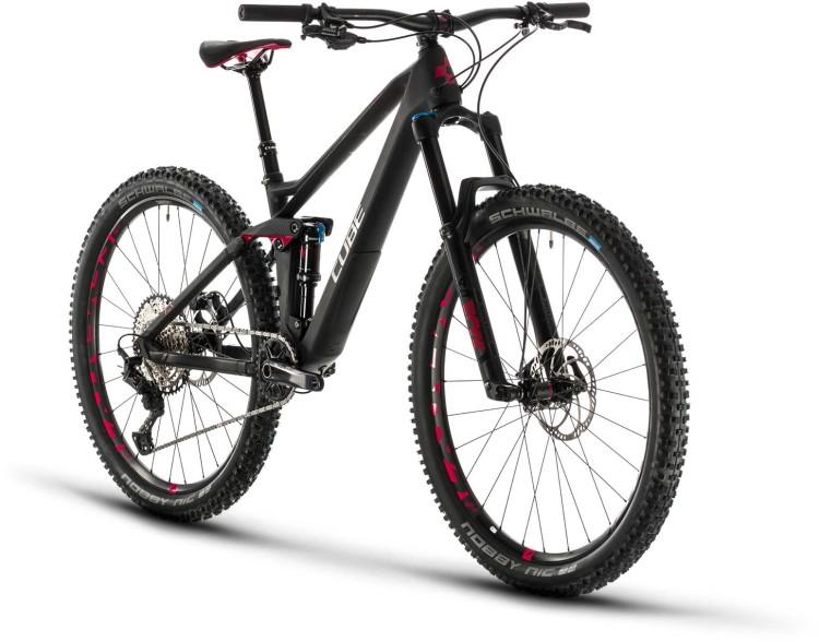 Cube Sting WS 140 HPC Race carbon n rubinred 2020 - Fully Mountainbike Damen