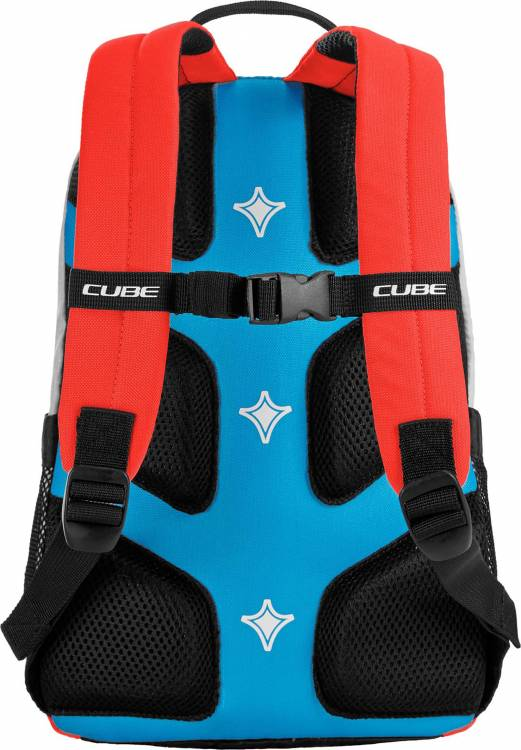 Cube Rucksack AMS JUNIOR ACTION TEAM blue´n´white´n´flashred