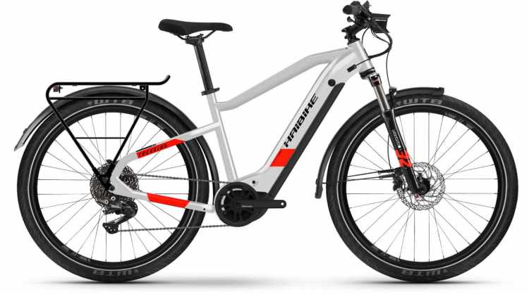 Haibike Trekking 7 i630Wh cool grey/red matte 2021 - E-Bike Trekkingrad Herren