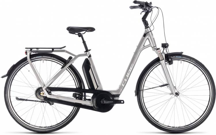 Cube Town Hybrid EXC 500 silver n white 2018 - Tiefeinsteiger E-Bike Trekkingrad