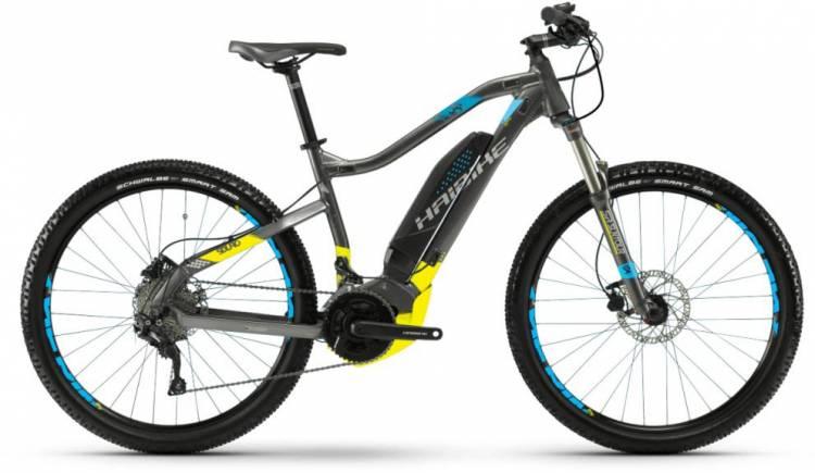 Haibike SDURO HardSeven 3.5 500Wh schwarz/cyan/lime 2018 - E-Bike Hardtail Mountainbike