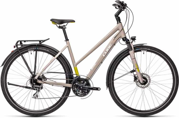 Cube Touring Pro grey n green 2021 - Trekkingrad Damen