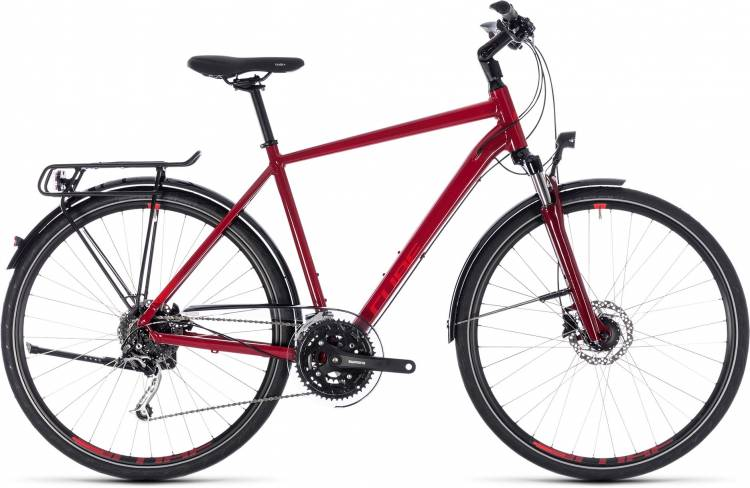 Cube Touring EXC darkred n red 2018 - Herren Trekkingrad