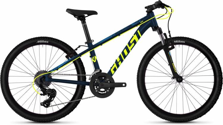 Ghost Kato 2.4 AL U night blue / neon yellow / riot blue 2020 - Kinderrad 24 Zoll