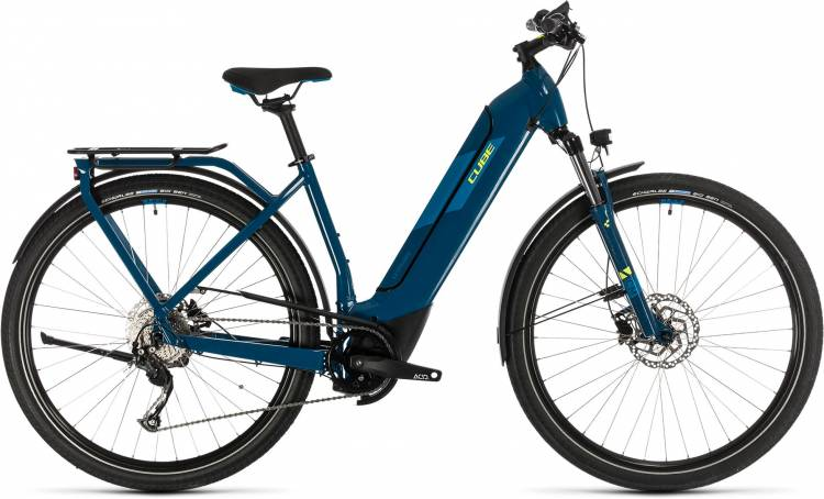 Cube Kathmandu Hybrid ONE 625 blue n yellow 2020 - E-Bike Trekkingrad Tiefeinsteiger