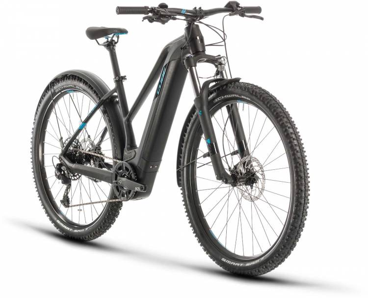 Cube Reaction Hybrid EX 625 Allroad 29 black n blue 2020 - E-Bike Hardtail Mountainbike Damen