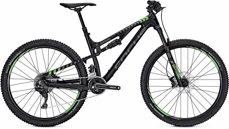 Focus Spine C Lite 27 black/fl.green 2017 - Fully Mountainbike