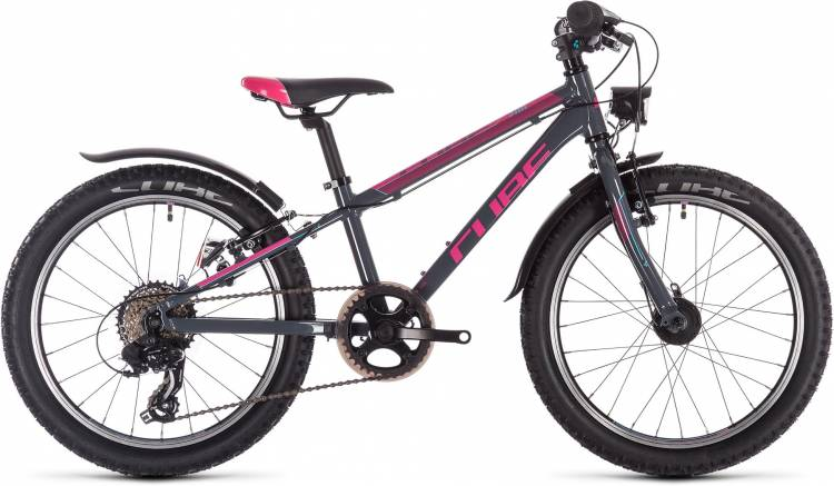 Cube Access 200 Allroad girl grey n blue n pink 2020 - Kinderrad 20 Zoll