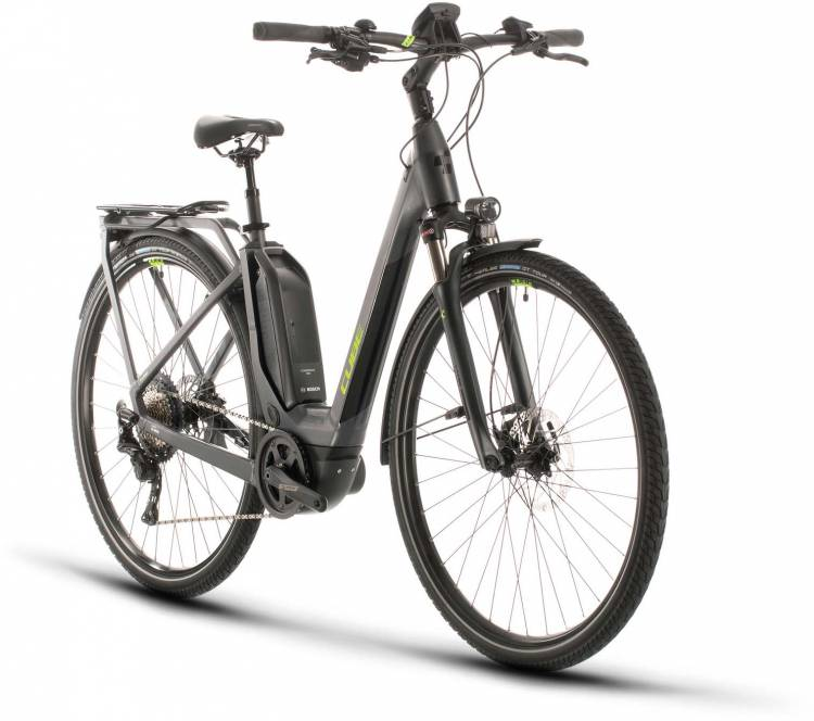 Cube Touring Hybrid EXC 500 iridium n green 2020 - E-Bike Trekkingrad Tiefeinsteiger