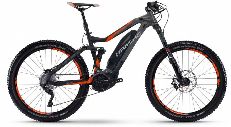 Haibike SDURO AllMtn 8.0 500Wh titan/anthr./orange matt 2017 - E-Bike Fully Mountainbike