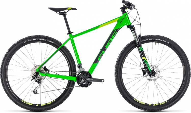 Cube Analog flashgreen n grey 2018 - Hardtail Mountainbike