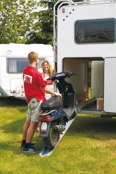 Fiamma Carry Moto Motorrad- und Auffahrschiene für Fahrzeug mit Heckgarage
